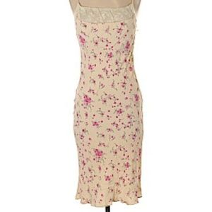 Vintage Hugo Buscati Floral Print Lace Midi Dress